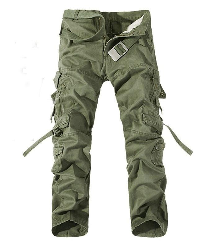 새로운 2017 군사 육군 위장화물 바지 플러스 사이즈 멀티 포켓 오버올 바지 남성 6 색