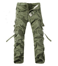 New 2017 Military Army Camouflage Cargo Pants Plus Size Multi-pocket Overalls Trousers Men 6 Color