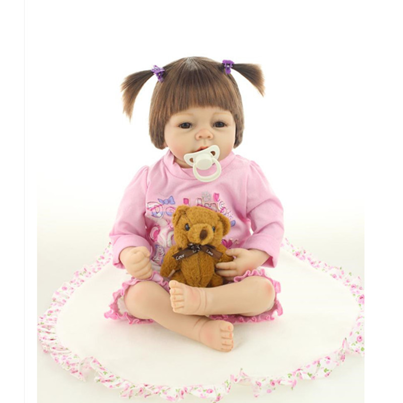 20 Inch Fashion Real Reborn Babies Silicone Reborn Dolls,50 cm Lifelike Baby Reborn Doll Toys for Girls Children free shipping hot sale real silicon baby dolls 55cm 22inch npk brand lifelike lovely reborn dolls babies toys for children gift