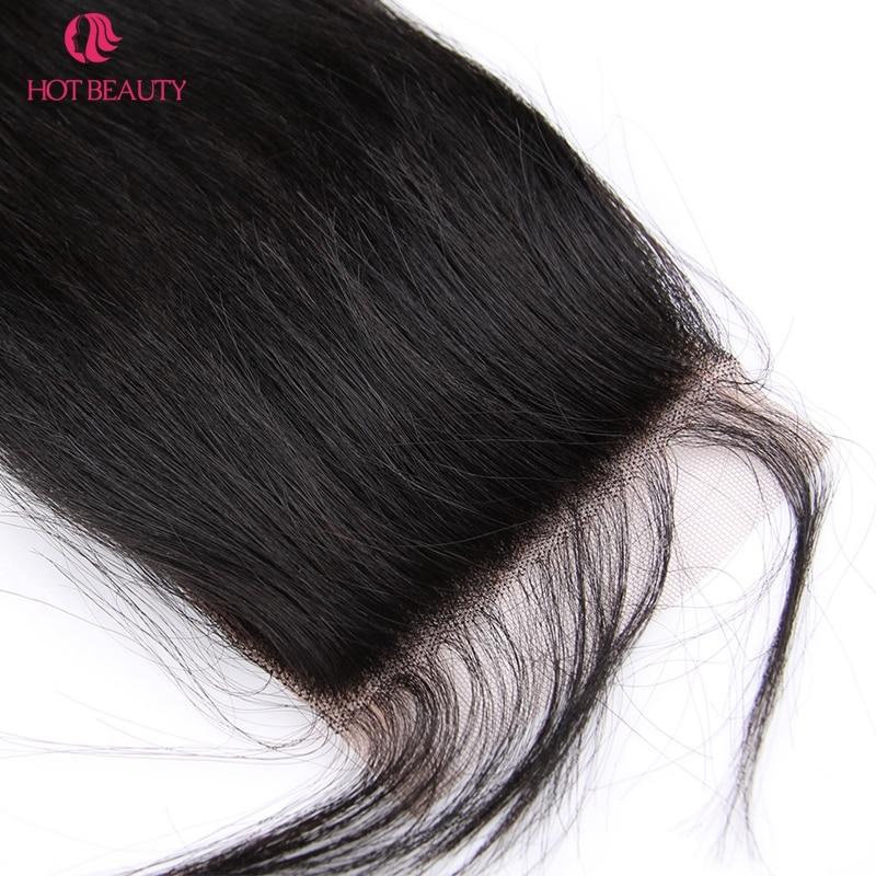 Гарячі волосся закриття перуанських - Людське волосся (чорне) - фото 6