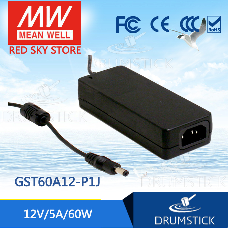 (12.12)MEAN WELL GST60A12-P1J 12V 5A meanwell GST60A 12V 60W AC-DC High Reliability Industrial Adaptor selling hot mean well gst280a12 c6p 12v 21a meanwell gst280a 12v 252w ac dc high reliability industrial adaptor