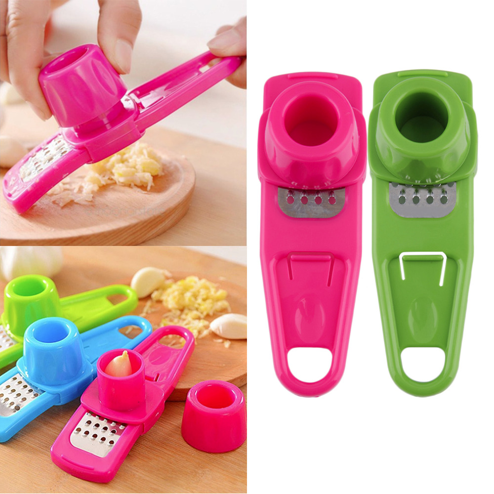 Multifunction Home Kitchen Plastic Stainless Steel Garlic Press Chopper Cutter G