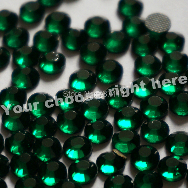 DMC Hotfix Rhinestone,Color Emerald,Dark green Size ss20 (4.8-5.0mm) - Arts, Crafts and Sewing - Photo 2