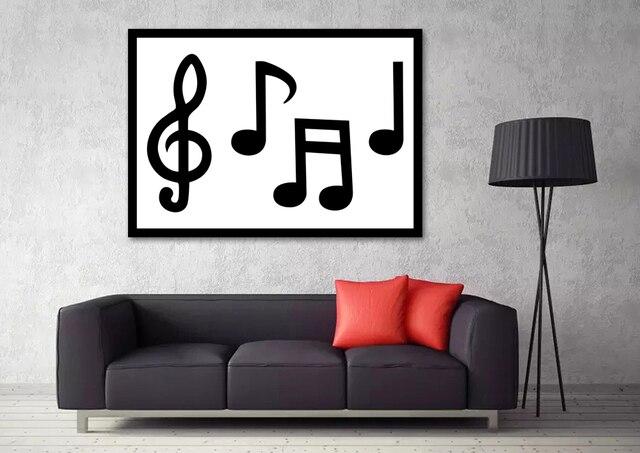 Musiknote poster schwarz und weiß minimalismus musik silk kunstdruck