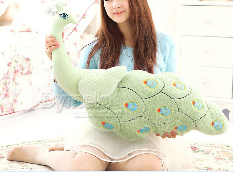 Grand nouveau jouet créatif en peluche vert paon belle belle poupée oreiller paon cadeau environ 80 cm