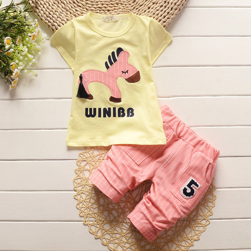 931e8d5c0 BibiCola 2018 summer baby boys clothes set toddler boy cartoon horse ...