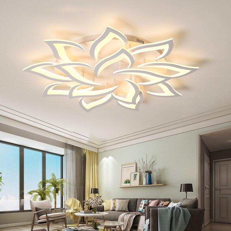 Nouveau LED lustre Pour Salon Chambre Maison lustre par sala AC85-265V Moderne LED Plafond lustre Lampe Luminaires lustre