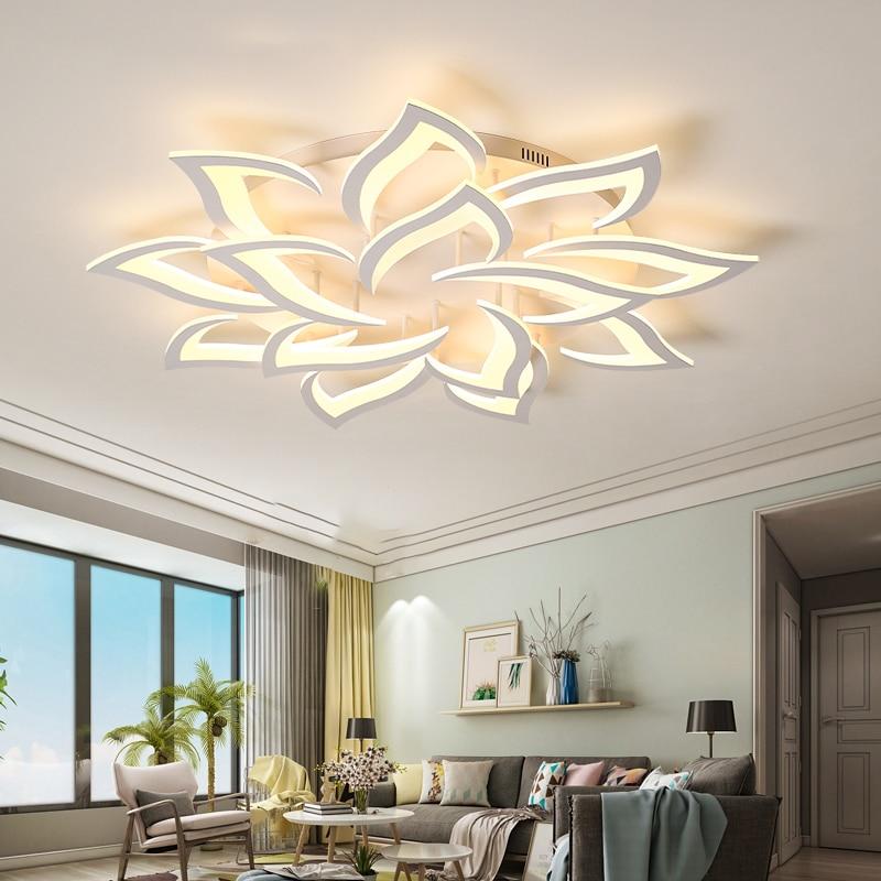 Nueva lámpara led para sala de estar dormitorio casa lustre para sala AC85-265V moderno Led de la lámpara de techo lámpara de brillo