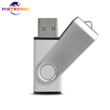 32GB 64GB USB Memory Stick 3.0 Flash Drive Thumb Drive Metal Swivel Capless Silver