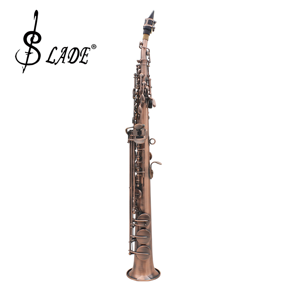 LADE WSS 899 Professional Red Bronze Straight Bb Soprano Saxophone Sax Woodwind Instrument Abalone Shell Key