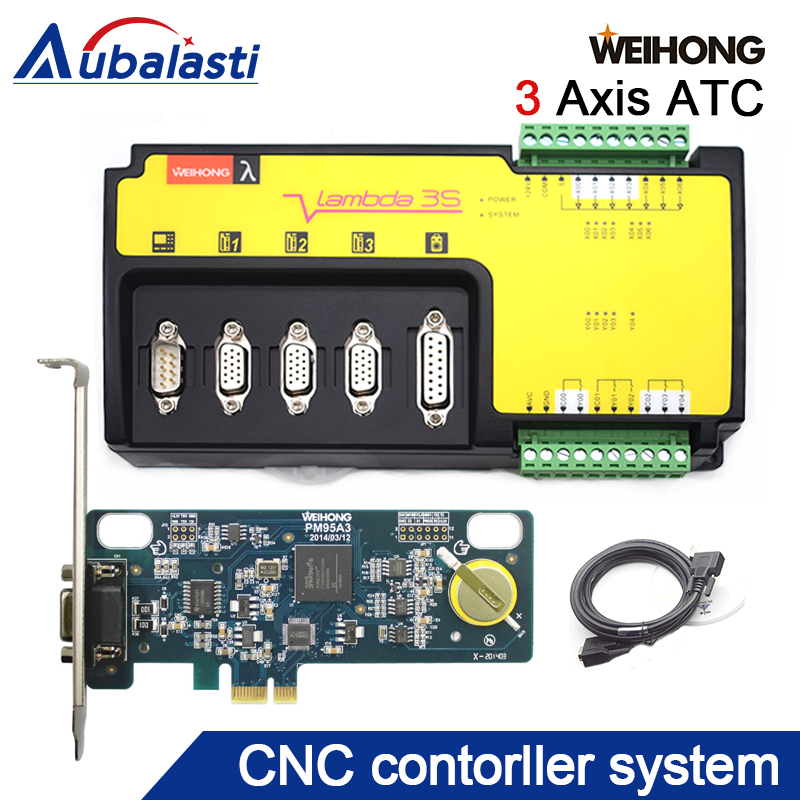 weihong cnc controller 3 axis woodworking machine control card PM95A-3S+Lambda3S for cnc router milling & engraving machine engraving machine accessories weihong card whb02 latest wireless control handle