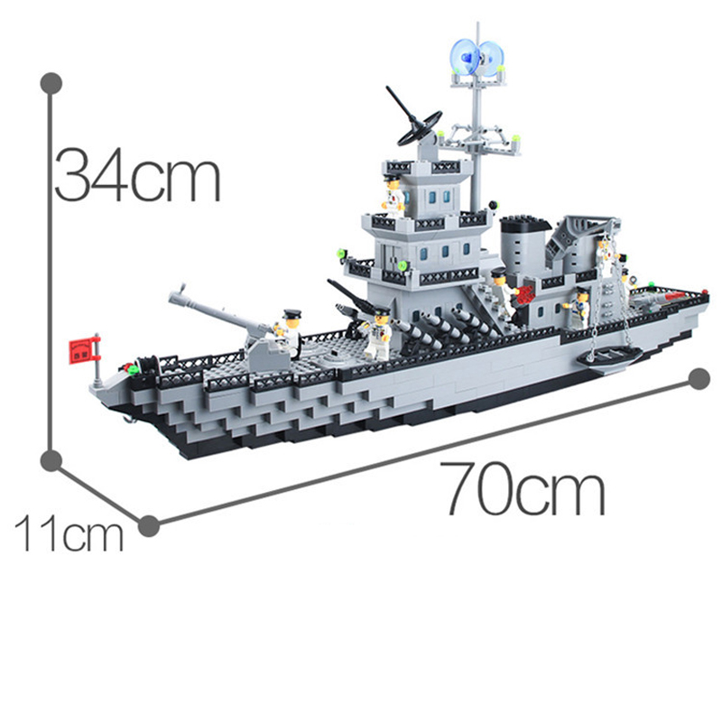 970pcs Children's educational building blocks toy Militaryaircraft carrier Compatible Legoingly city technic DIY figures Bricks-in Blocks from Toys & Hobbies    3