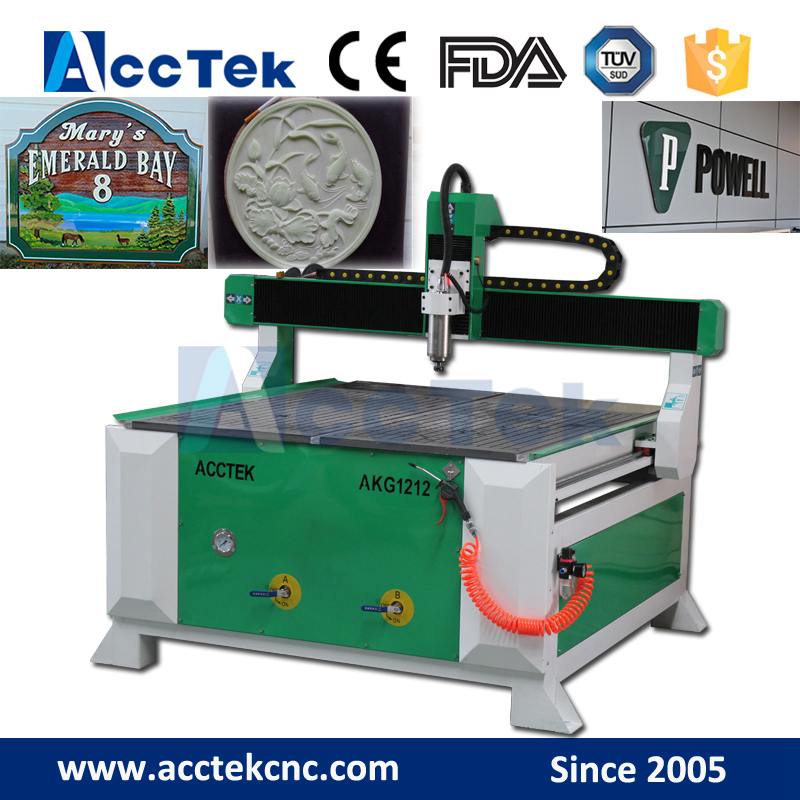 Jinan AccTek AKG1212 cnc router italy, pantograph used for wood, bigger size 1224 1325 etc are optional
