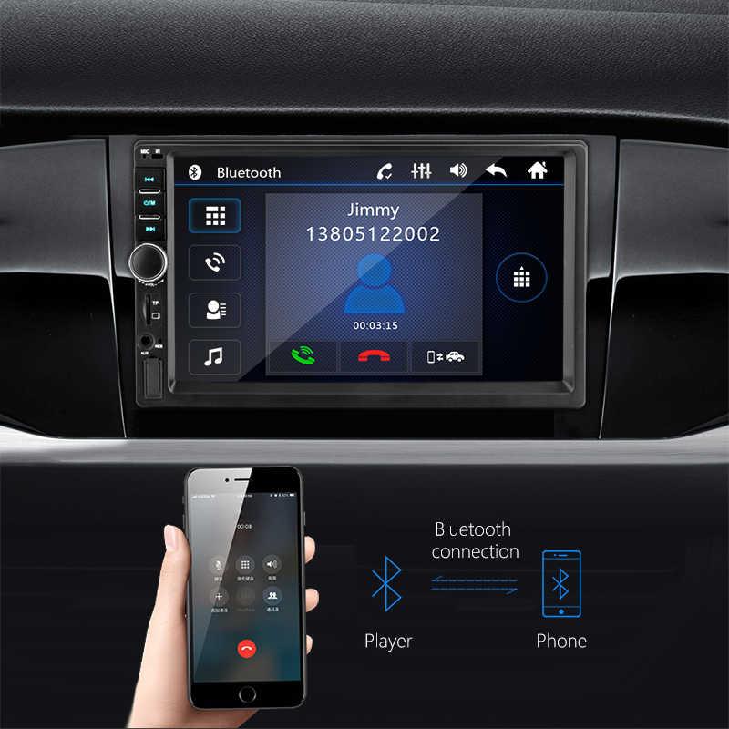 """Uniwersalny samochodowy odtwarzacz multimedialny 2 Din HD Stereo 7 """"dotykowy ekran wideo MP5 odtwarzacz radio samochodowe aparat kopii zapasowej bluetooth USB TF FM"""