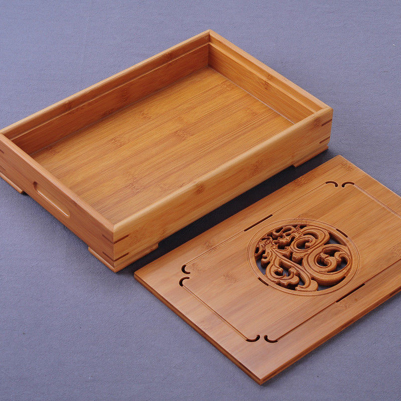 China Dragon & Phoenix Bamboo Gong Fu Tea Ceremony Table 2