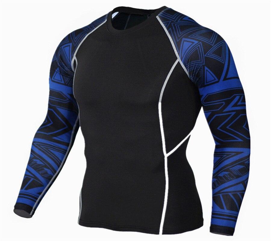 Mens Fitness 3D 프린트 긴팔 티셔츠 남성 보디 빌딩 Hautengen 열 압축 셔츠 MMA Crossfit Workout Top Gear