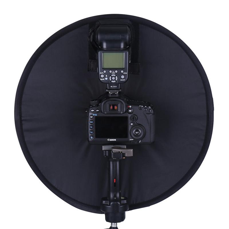 Lightdow 45cm Foldable Ring Speedlite Flash Diffuser Macro Shoot Round Softbox for Canon Nikon Sony Pentax Godox Speedlight 5