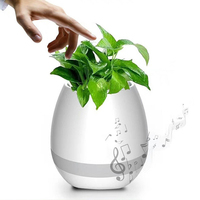 Wireless Bluetooth Speaker Smart Flowerpot Sensor Flower Pot Plant Pot Decorative Wireless Music Speaker Colorful Light