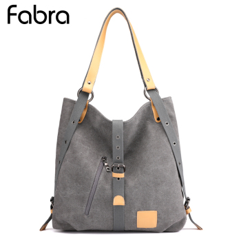 Women Canvas Shoulder Bags Female Back Pack Bags Solid Bucket Bag Fashion Casual Designer Female Handbag Large Capacity Tote