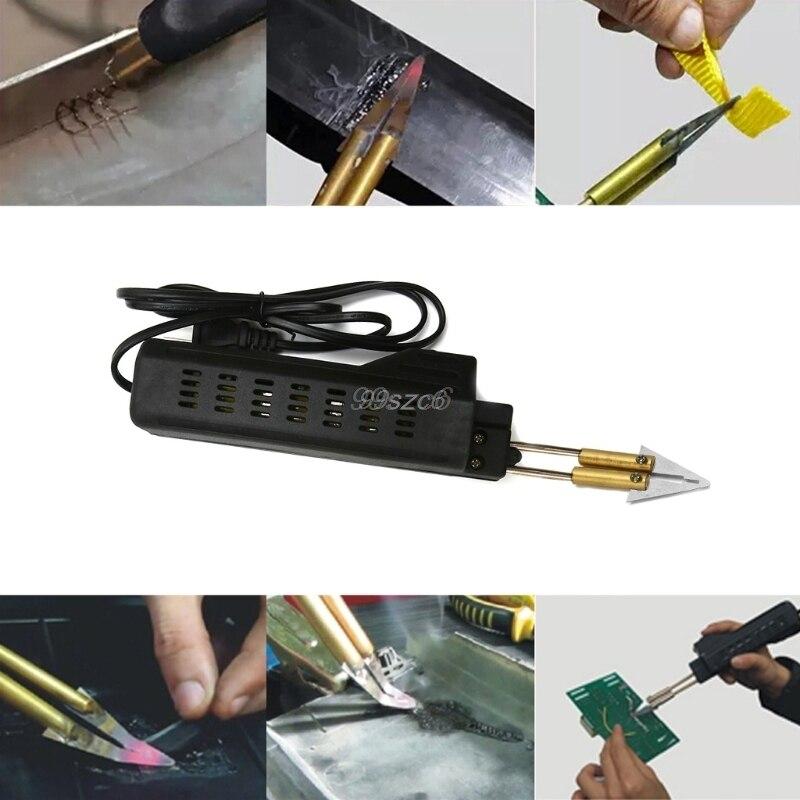 US Plug Stapler Bumper Fender Fairing Weld Gun Plastic Repair Tool Kit for Car DropShip