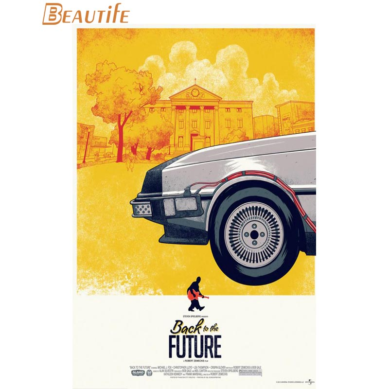Back To The Future Poster Cloth Silk Poster Home Decoration Wall Art Fabric Poster Print 30X45cm,40X60cm.50X75cm,60X90cm