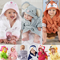 2017 Baby Towel Promotion New Bath Towel Square Baby Toallas 2016hot Sale100% Cotton Cute Animal Bathrobe Swaddle Blankets
