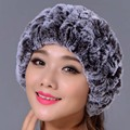 Rex Rabbit Fur Knitted Headbands Can Be Used As Scarf Women Warm Winter Real Fur Caps Ear Warmer Head wrap