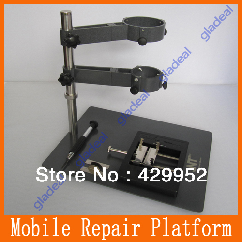 NT F-204 new Mobile Phone Repair Platform /Hot Air Gun Bracket /Precision Multifunction Fixture /BGA Rework Station hot air gun clamp holder for mobile phone repair platform bga rework tool f 204