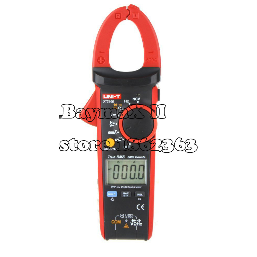 цены на UNI-T UT216B LCD Display 600A True RMS Digital Clamp Meters Auto Range w/ NCV V.F.C. & Frequency,AC/DC Voltage AC Current Tester в интернет-магазинах