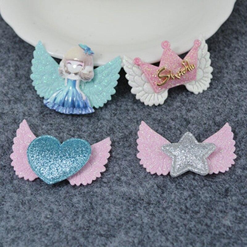 10 Stücke Glitter Flügel Handwerk Zubehör Handgemachte Materialien Für Diy Baby Haar Ornament Schmuck Machen Gut FüR Energie Und Die Milz