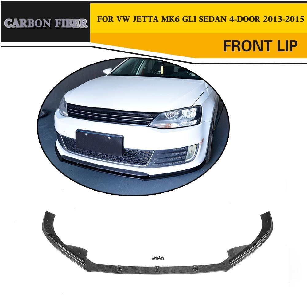 Carbon Fiber / FRP Racing Front Lip Spoiler for Volkswagen VW Jetta GLI Sedan 4-Door 2013-2015