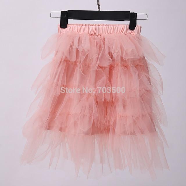 2016 Princess Girls Fairy Pink Mesh Dance Skirts, Baby Kids Sweet wholesale 5 pcs/lot, Free Shipping