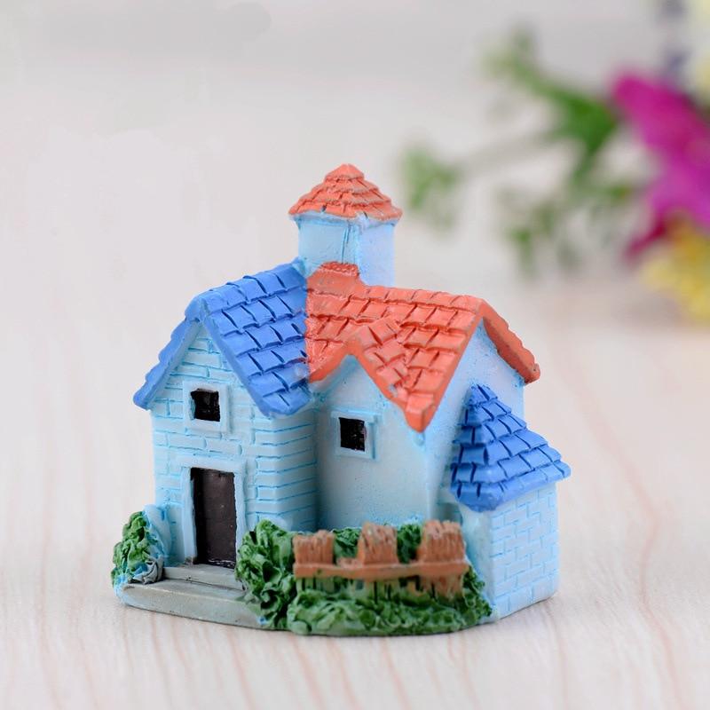 Miniature European Country Villa House Housing Micro Landscape Creative Arts And Crafts Resin Decoration Decoration Miniature