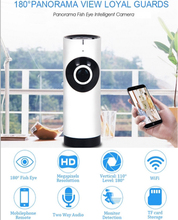 180 Degree Panorama Camera Fisheye Lens WIFI IP Camera Night Vision Motion Detection Camcorder APP Remote Control P2P Webcam