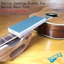 Promień klocki szlifierskie dla gitara basowa Fret Leveling podstrunnica narzędzie dla lutników 7.25 i 9.5  10 i 12 14 i 16 klon podwójny szlifowanie bloku