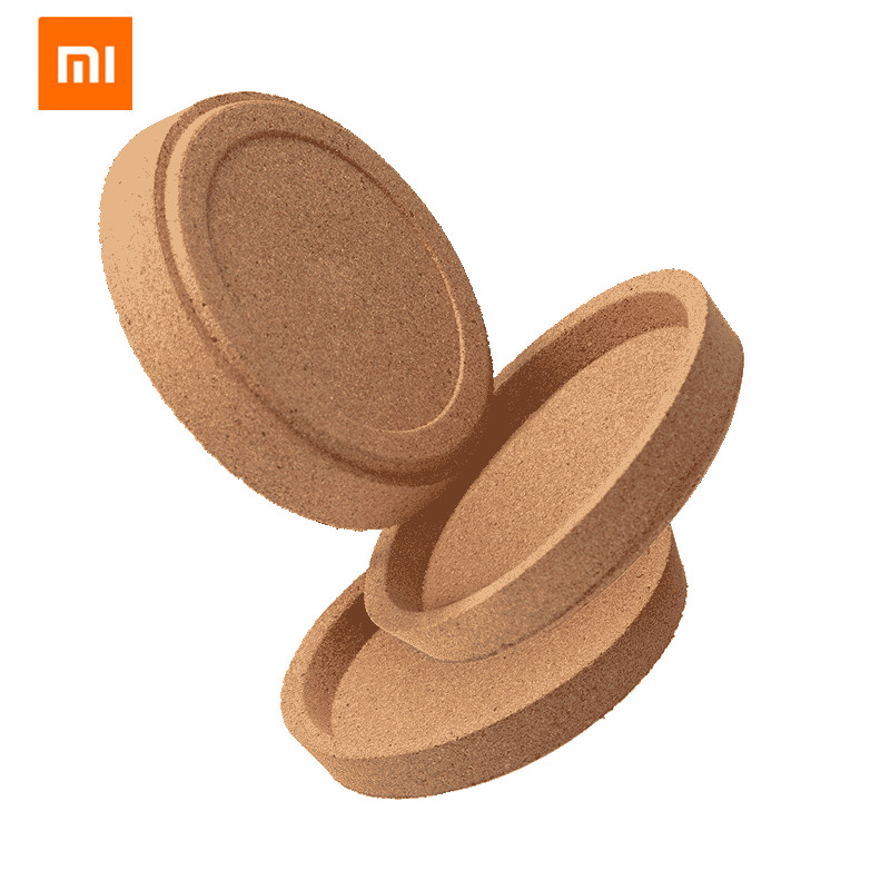 Xiaomi Xianger Oak 3Pcs Natural Cork Coasters Multifunctional Coffee Pads Table Cup Mat Restaurant Cafe Supplies Eco Friendly