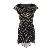 LIENZY Vintage Bodycon Sequin Dress Women Summer Short Sleeve O Neck Party Dress Ukraine Vestidos
