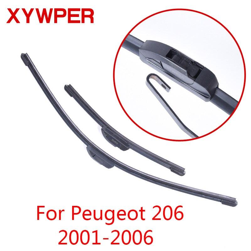 все цены на XYWPER Wiper Blades for Peugeot 206 2001 2002 2003 2004 2005 2006 Car Accessories Soft Rubber car Wipers онлайн
