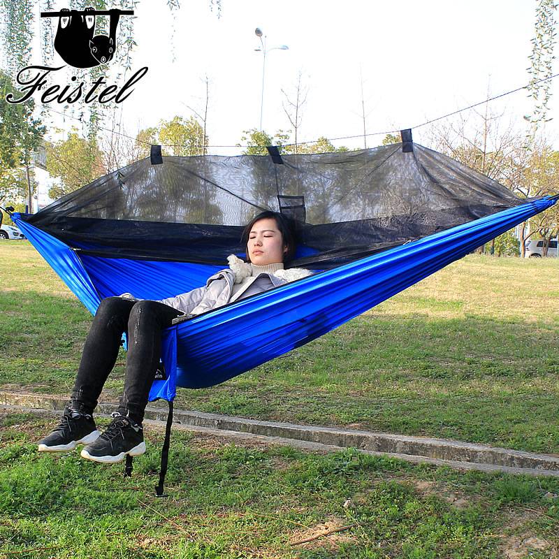 Durable hammock with great load carrying capacity and effective anti-mosquito effect