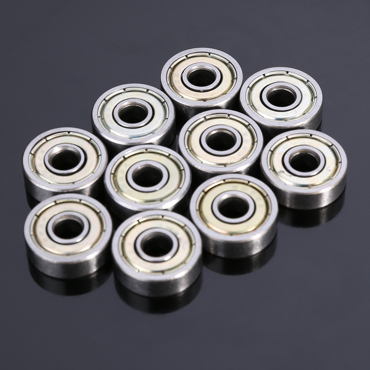 10pcs High Quality Single Row Deep Groove Ball Bearings Carbon Steel Radial Metal <font><b>625ZZ</b></font> Ball Bearing 5*16*5mm Mayitr image