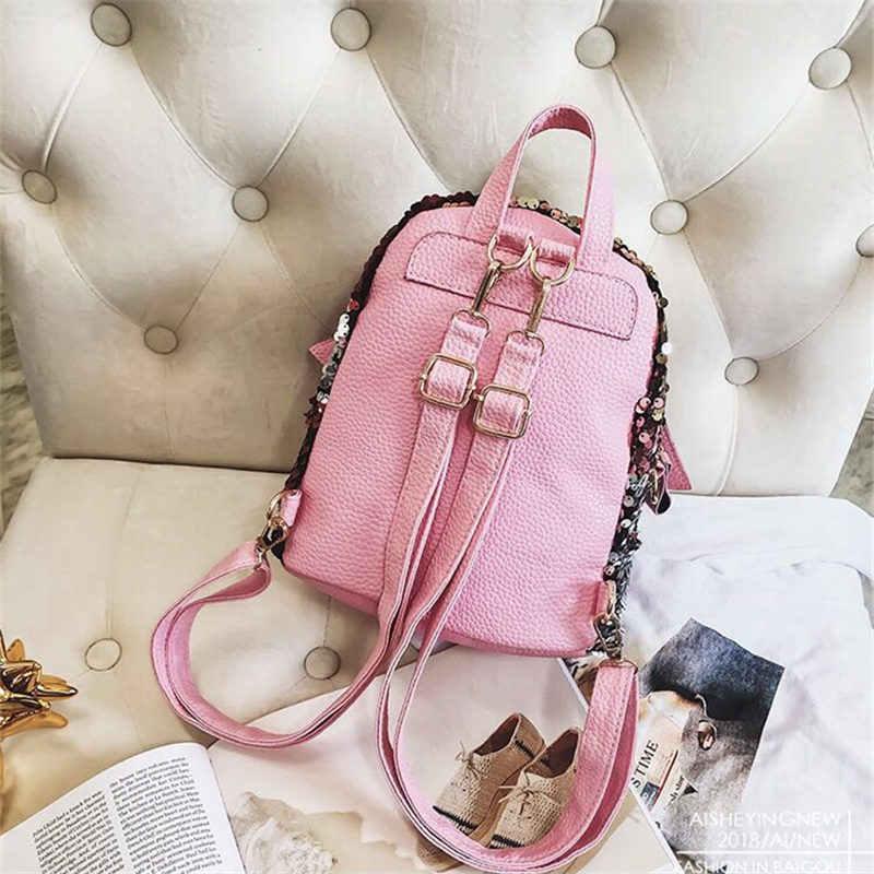 Мини-рюкзак с блестками, милая сумка с крыльями ангела для женщин, женский туристический рюкзак, шикарный яркий рюкзак, Mochila Feminina Escolar, новинка