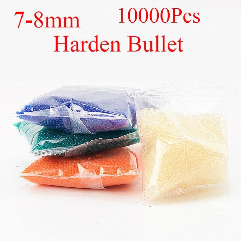 7-8 MM Crystal bullet Pistola de Agua Eléctrica Juguetes Gun Bullets Especial endurecer paintball bullet Water Beads Gun Accesorios 10000 unids