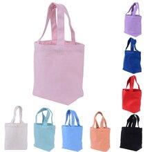 1 шт., одноцветная Холщовая Сумка для покупок для женщин и девочек, Портативная сумка для обеда, сумка для пикника, сумка для хранения, тоут