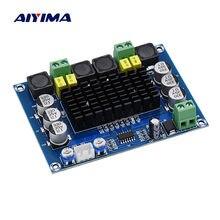 Aiyima tpa3116 duplo-canal estéreo de alta potência amplificador de potência de áudio digital placa tpa3116d2 amplificadores 2*120 w amplificador diy