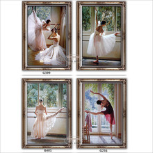 modern painting picture of girl's ballet 40X50cm framed canvas painting on the wall in the living room canvas oil paintings