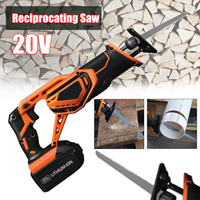 Drillpro Portable Rechargeable Reciprocating Saw Wood Cutting Saw 20V 3000mAh Electric Wood Metal Plastic Saw