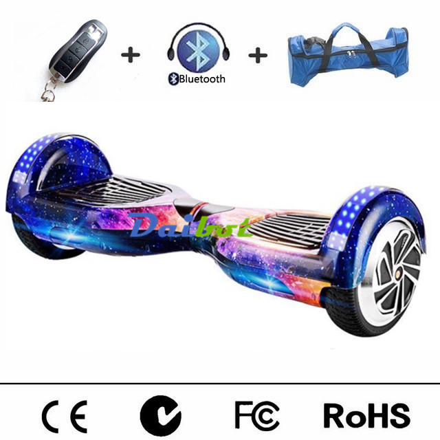 No Tax bluetooth hoverboard two wheel electric scooter self balancing scooter electric skateboard hover board LED light Remote