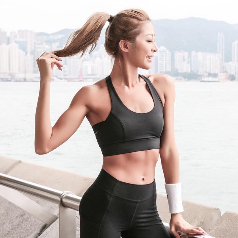 3da4a2342b Lucylizz Shakeproof Sports Bra Fitness Yoga Bra Tops Gym Workout Underwear  Running Bras Sport Vest Top Brassier Sportswear-in Sports Bras from Sports  ...