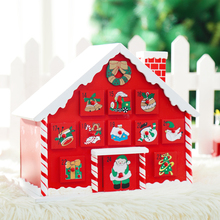 wooden advent calendar advent christmas decorations house toys child kids desktop table desk advent calendar birthday(China)