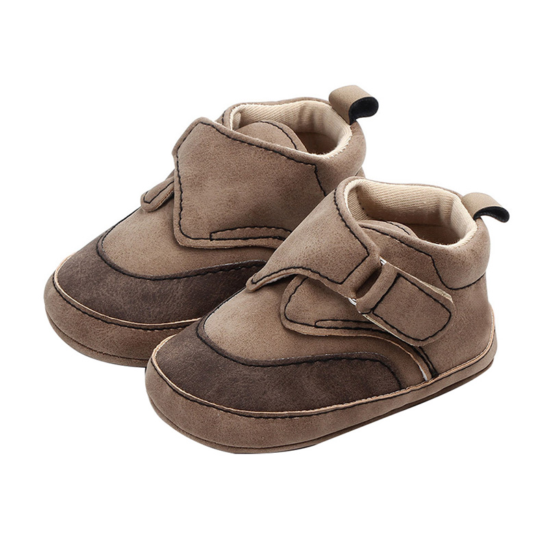 Baby Boy Shoes Newborn First Walkers PU Leather Soft Soled Non-slip Footwear Baby Shoes Sneaker Hot